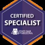 Arizona state bar certified specialist